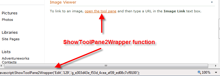 ShowToolPane2Wrapper function